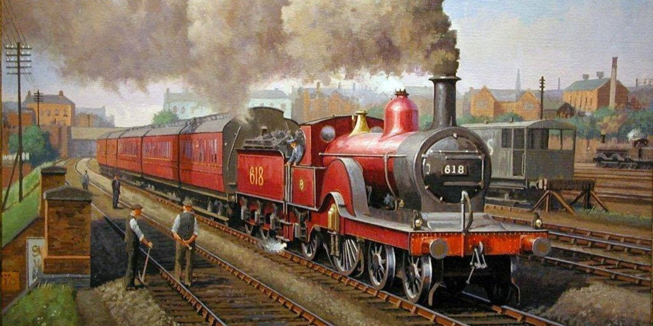 790bd-transport-art-mrs-single-derby-steam-locomotive-painting